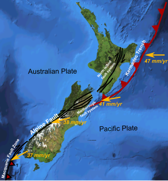 Rim Of Fire Map.Seismicity In New Zealand Seismic Resilience