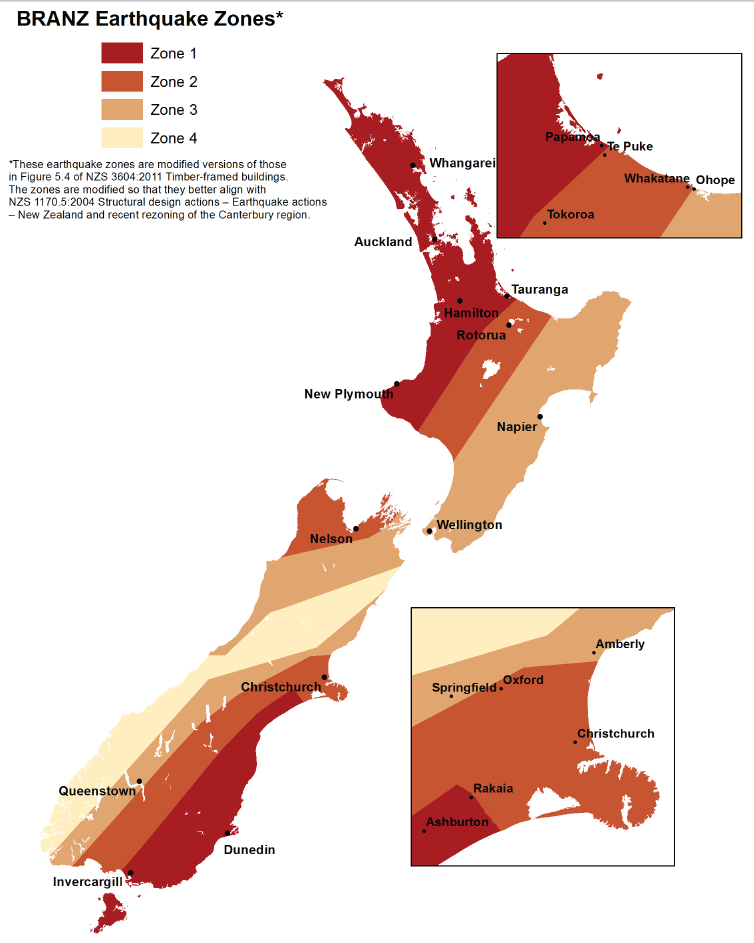 Earthquake risk zones » Seismic Resilience